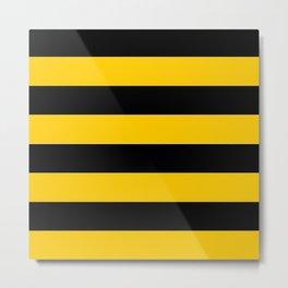 Bee Stripe Design Metal Print