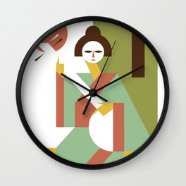 Shamisen Wall Clock