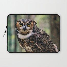 Majestic Owl Stare Laptop Sleeve