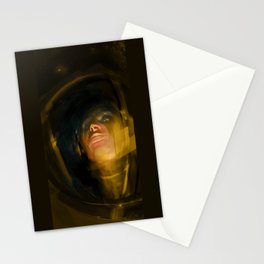 Spaceman Yellow Stationery Cards