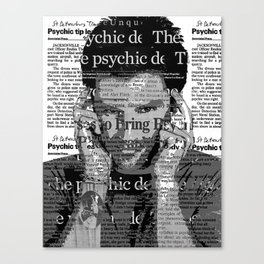 Shawn Spencer Psychic Detective Canvas Print