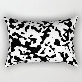 Spots - White and Black Rectangular Pillow