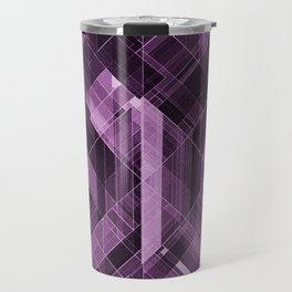 Abstract violet pattern Travel Mug