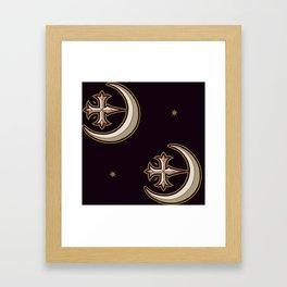 Black Ships Framed Art Print