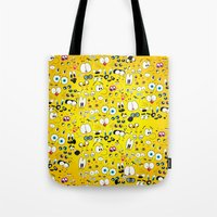 cartoon Tote Bags featuring Cartoon by Javier Martinez