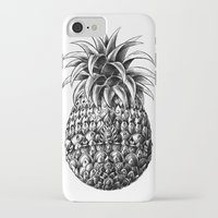 ornate iPhone & iPod Cases featuring Ornate Pineapple by BIOWORKZ
