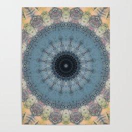 Delicate Detailed Pastel Mandala Poster