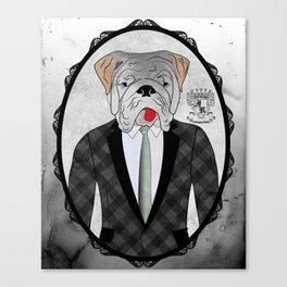 Mr. Dandy - English Bulldog Canvas Print