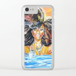 lost without u Clear iPhone Case