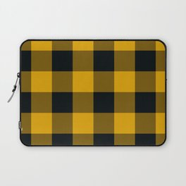 Yellow & Black Buffalo Plaid Laptop Sleeve