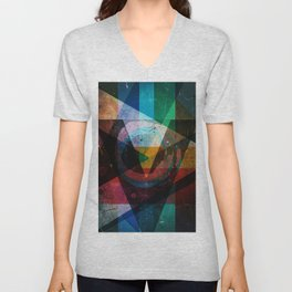 Abstract symbolic geometric composition Unisex V-Neck