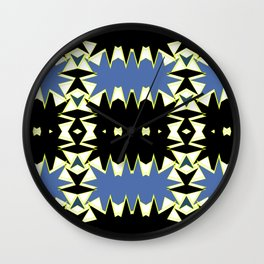 BLACK AND BLUE  Wall Clock