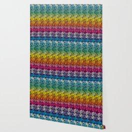 Escher Fish Rainbow Pattern Wallpaper
