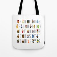muppet Tote Bags featuring Pixel Muppet Show Alphabet by PixelPower
