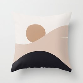 Abstraction_SUN_BODY_LANDSCAPE_Minimalism_002 Throw Pillow