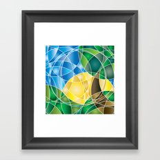 Mosaic Sunrise Framed Art Print