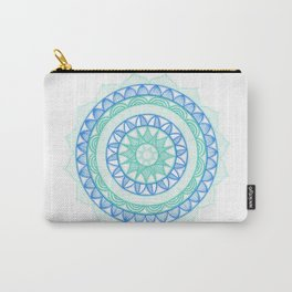 Shades of Blue Mandala Carry-All Pouch