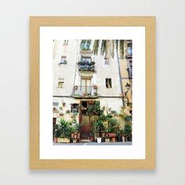 Plants of El Born Framed Art Print