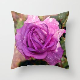 Sardinian Rose Poetry Throw Pillow