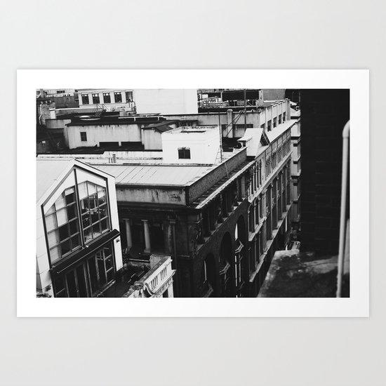 Grungey Melbourne  Art Print