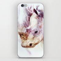 rhino iPhone & iPod Skins featuring RHINO by beart24