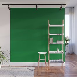 Rich Forest Evergreen Stripes Ombre Wall Mural