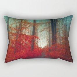 Red Forest Dream Rectangular Pillow