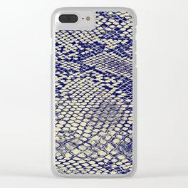 blue snake Clear iPhone Case