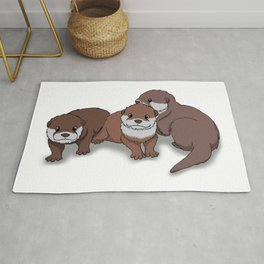 Romp of Baby Otters Rug