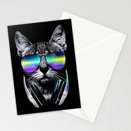 Dj Cat Stationery Cards