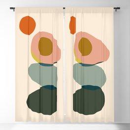 Abstract Avocado Blackout Curtain