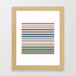 grey and colored stripes Framed Art Print