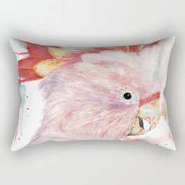 "Watercolor Painting of Picture ""Inca Cockatoo"" Rectangular Pillow"