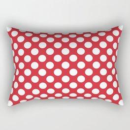 Polka dot red and white Rectangular Pillow