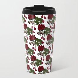 Red Geranium Travel Mug