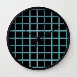 PNW Plaid Seattle Gridlock Wall Clock