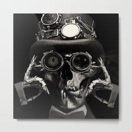 Steampunk Skull Gothic Victorian Horror Art Metal Print