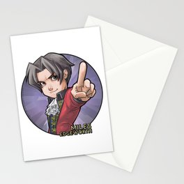 Young Miles Edgeworth Stationery Cards