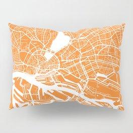 Hamburg map orange Pillow Sham