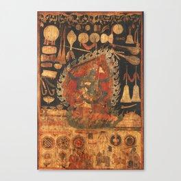 Goddess Palden Lhamo Tibet Dharma Canvas Print