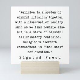 15  |   Sigmund Freud Quotes | 190926 Mini Art Print
