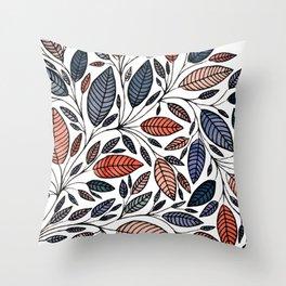 Floral Leaf Illustration *P05014 Throw Pillow