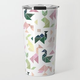 Pastel Tangrams Pattern Travel Mug