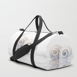 Snail Shells On Water Duffle Bag