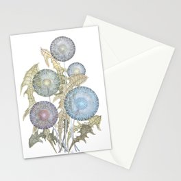 Dandelions watercolor painting Stationery Cards
