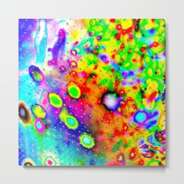 Lighting Experiment 47 - Psychedelic Bubbles Metal Print