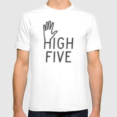 High Five SMALL Mens Fitted Tee White