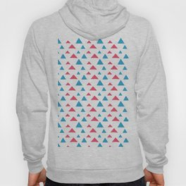 Tribal hand painted blue bright pink watercolor pattern Hoody