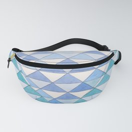 Triangle Pattern No. 9 Shifting Blue and Turquoise Fanny Pack