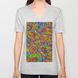 Abstract FF YYYY Unisex V-Neck